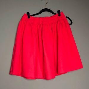 Kaye Spade elastic waist crepe gathered skirt